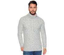 Pullover mit Tubekragen hellgrau