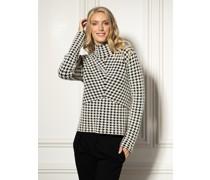 Pullover weiß/schwarz