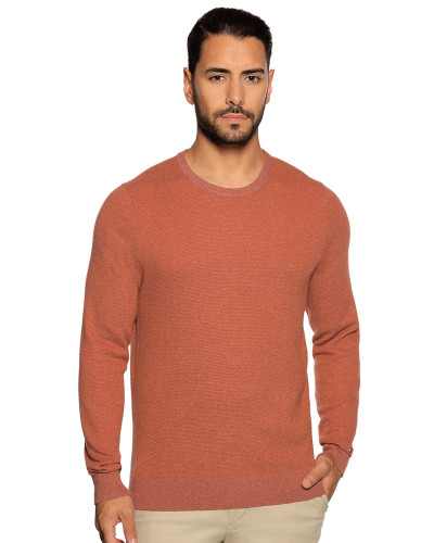 Pullover rost meliert