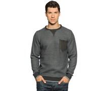 Pullover, grau/navy, Herren