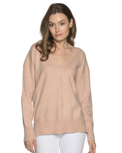 Pullover rosa meliert