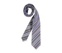 Krawatte, dunkelbraun/hellblau, Herren