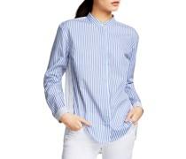Bluse blau/weiß