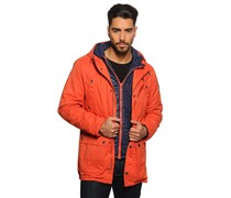 Jacke 2 in 1, orange, Herren