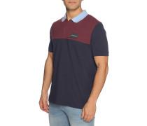 Kurzarm Poloshirt Regular Fit bordeaux/navy