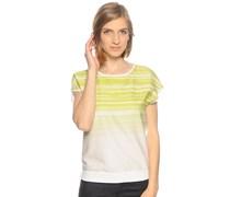 Blusenshirt, grün/weiß, Damen