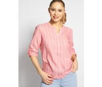 Blusenshirt rosa/weiß