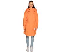 Parka 2 in 1 orange/weiß