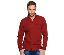 Jeanshemd Regular Fit, bordeaux, Herren
