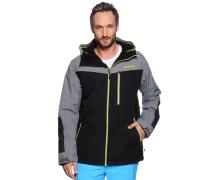 Ski-/Snowboardjacke, schwarz/grau, Herren