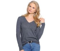 Pullover mit Kaschmir, grau meliert, Damen