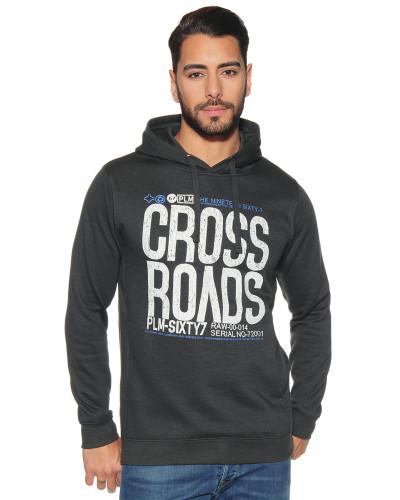 Sweatshirt mit Frontprint anthrazit