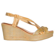 Wedges, hellbraun, Damen