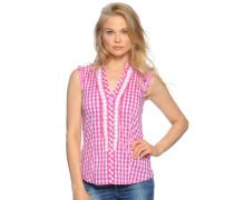 Bluse, pink/weiß, Damen