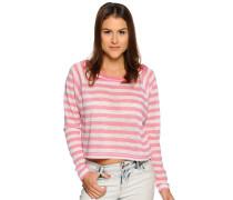 Strickshirt, pink/weiß, Damen