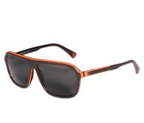 Sonnenbrille, schwarz/orange, Herren