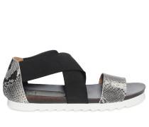 Sandalen, grau/schwarz, Damen