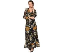Kleid schwarz/mehrfarbig