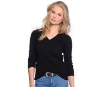 Pullover mit Kaschmir, schwarz, Damen