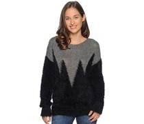 Pullover, schwarz/silber, Damen