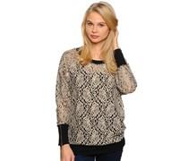Pullover, beigeschwarz, Damen