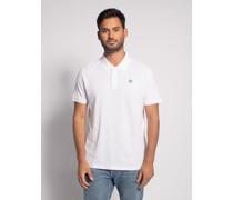 Kurzarm Poloshirt Regular Fit weiß