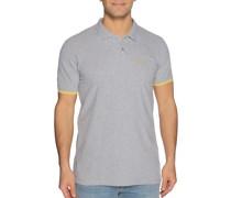 Kurzarm Poloshirt Regular Fit grau meliert