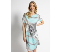 Kleid hellblau/weiß/schwarz