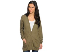 Strickjacke, khaki, Damen