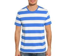 Kurzarm T-Shirt blau/weiß