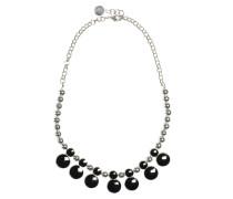Halskette, silber/schwarz, Damen