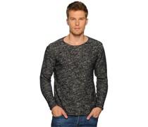 Pullover, schwarz/off white, Herren