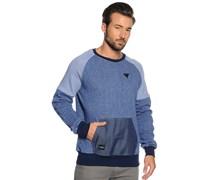 Sweatshirt, blau melange, Herren