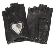 Lederhandschuhe schwarz/grau