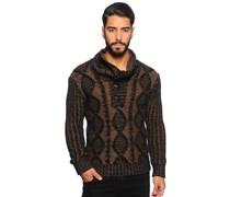 Pullover, braun/schwarz, Herren