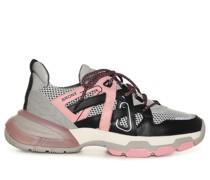 Sneaker grau/rosa/schwarz