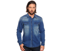 Jeanshemd Slim Fit, blau, Herren