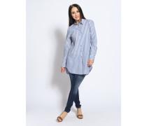 Langarm Bluse blau/weiß