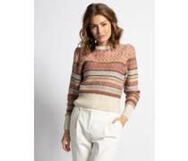 Pullover beige/grau/braun