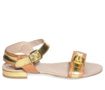 Sandalen, gold/cognac, Damen