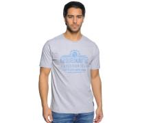 T-Shirt, hellgrau meliert, Herren