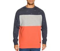 Sweatshirt navy meliert/orange