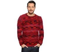 Pullover, rot/blau, Herren