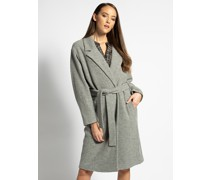 Mantel grau meliert