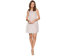 Kleid weiß/bunt