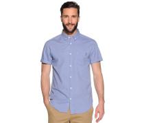 Kurzarmhemd Slim Fit, Blau, Herren