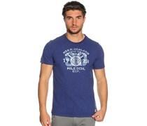 T-Shirt, navy/melange, Herren