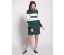 Kleid grün/weiß
