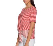 T-Shirt rot/weiß