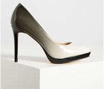 High Heels grau/schwarz